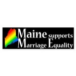 Maine Supports Marriage Equality Sticker