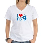 I Love PS9 Women's V-Neck T-Shirt