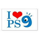 I Love PS9 Rectangle Sticker 10 pk)
