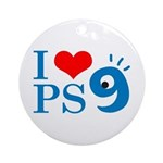 I Love PS9 Ornament (Round)