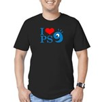 I Love PS9 Men's Fitted T-Shirt (dark)