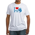 I Love PS9 Fitted T-Shirt