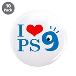 "I Love PS9 3.5"" Button (10 pack)"