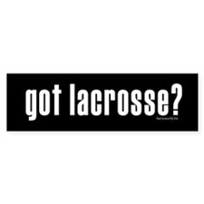 got lacrosse? Bumper Sticker (10 pk)