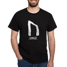 Viking Rune Uruz Black T-Shirt
