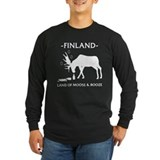 Long Sleeve Dark Land of Moose and Booze