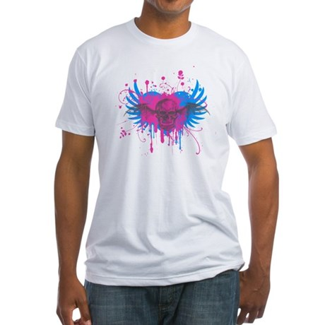 Splatter Skull Fitted T-Shirt
