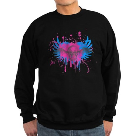 Splatter Skull Dark Sweatshirt