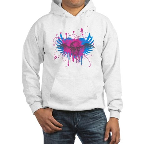 Splatter Skull Hooded Sweatshirt