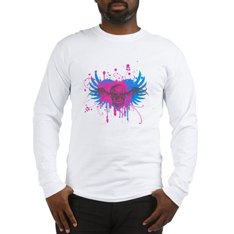 Splatter Skull Long Sleeve T-Shirt