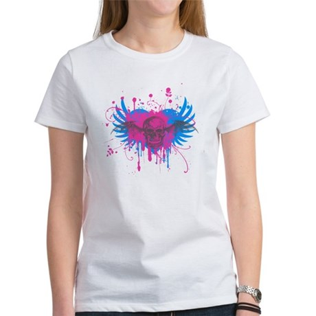Splatter Skull Womens T-Shirt