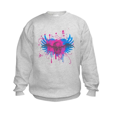 Splatter Skull Kids Sweatshirt