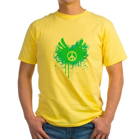 Peace and Love Yellow T-Shirt