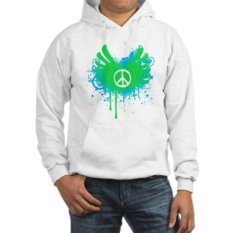 Peace and Love Hooded Sweatshirt