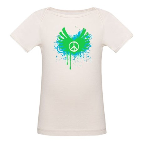 Peace and Love Organic Baby T-Shirt