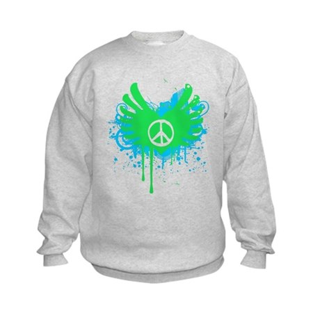 Peace and Love Kids Sweatshirt