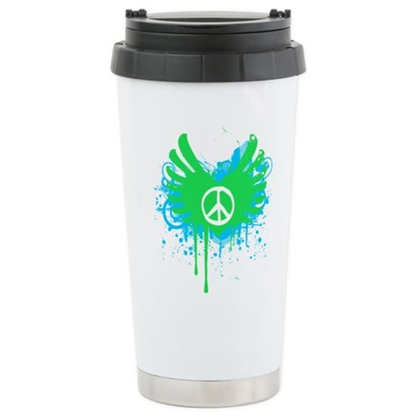 Peace and Love Ceramic Travel Mug