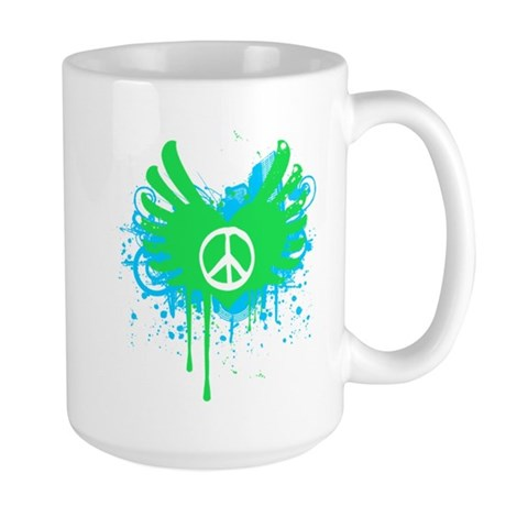 Peace and Love Large Mug