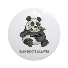 Eats Shoots & Leaves Ornament (Round)