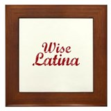 Wise Latina Sotomayor Framed Tile
