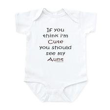 Cute Aunt Infant Bodysuit