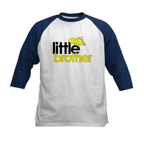little brother t-shirt dinosaur Kids Baseball Jers