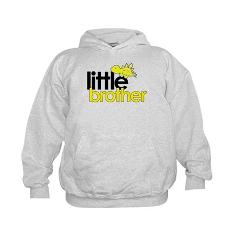 little brother t-shirt dinosaur Kids Hoodie
