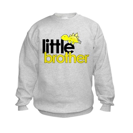 little brother t-shirt dinosaur Kids Sweatshirt