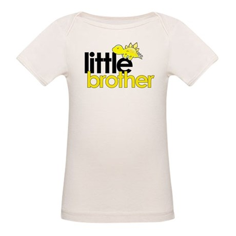 little brother t-shirt dinosaur Organic Baby T-Shi