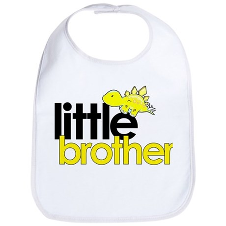 little brother t-shirt dinosaur Bib