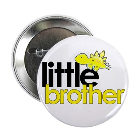 little brother t-shirt dinosaur 2.25&quot; Button