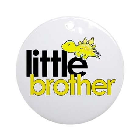 little brother t-shirt dinosaur Ornament (Round)