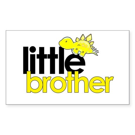 little brother t-shirt dinosaur Sticker (Rectangle
