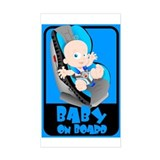Baby Onboard - Blue Rectangle Decal