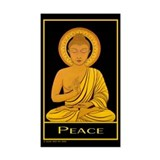 Peace Rectangle Sticker Susan Allen Art