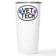 Travel Coffee Mug - VET TECH oval design