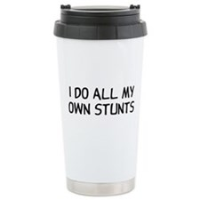 I Do Stunts Ceramic Travel Mug
