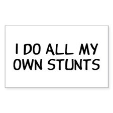 I Do Stunts Decal
