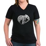 Crushed Can (Recycle!) Women's V-Neck Dark T-Shirt