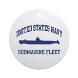 Navy Submarine Ornament (Round)