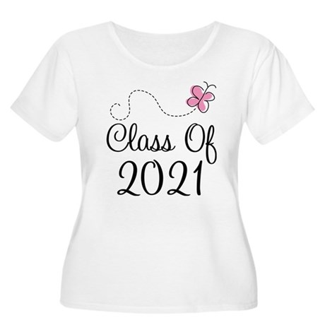 Sweet Pink Class Of 2021 Women's Plus Size Scoop N