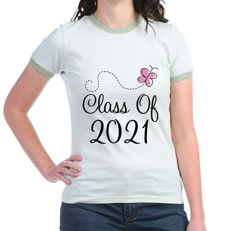 Sweet Pink Class Of 2021 Jr. Ringer T-Shirt