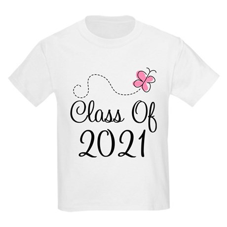 Sweet Pink Class Of 2021 Kids Light T-Shirt