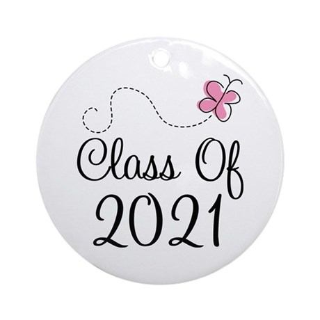 Sweet Pink Class Of 2021 Ornament (Round)