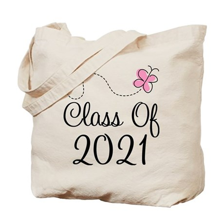 Sweet Pink Class Of 2021 Tote Bag