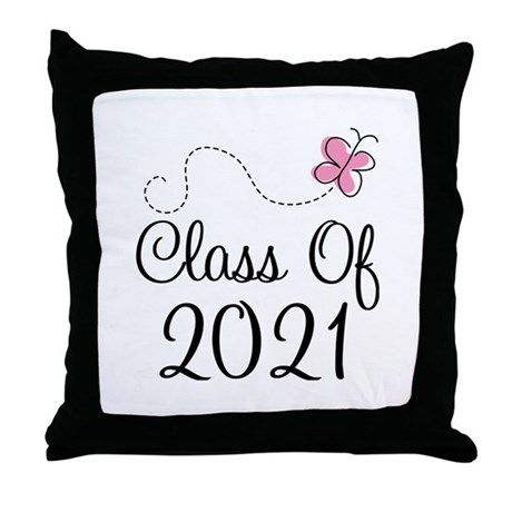 Sweet Pink Class Of 2021 Throw Pillow
