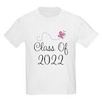 Sweet Pink Class Of 2022 Kids Light T-Shirt