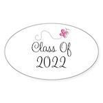 Sweet Pink Class Of 2022 Oval Sticker (50 pk)