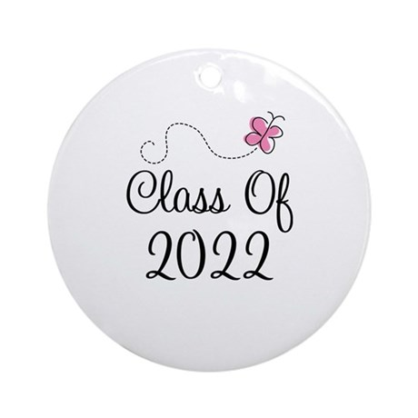Sweet Pink Class Of 2022 Ornament (Round)