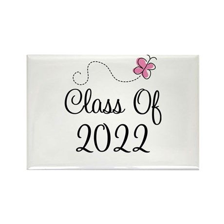 Sweet Pink Class Of 2022 Rectangle Magnet